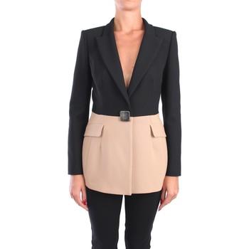 Abbigliamento Donna Giacche / Blazer Simona Corsellini A20CPGI006 Blazer Donna Nero/beige Nero/beige