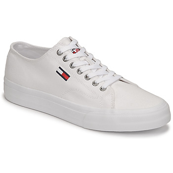 Scarpe Uomo Sneakers basse Tommy Jeans LONG LACE UP VULC Bianco