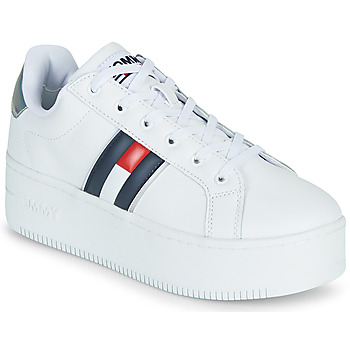 Scarpe Donna Sneakers basse Tommy Jeans IRIDESCENT ICONIC SNEAKER Bianco