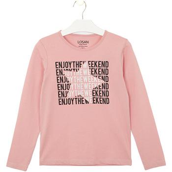 Abbigliamento Unisex bambino T-shirt & Polo Losan 024-1631AL Rosa