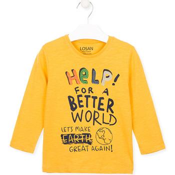 Abbigliamento Unisex bambino T-shirt & Polo Losan 025-1005AL Giallo