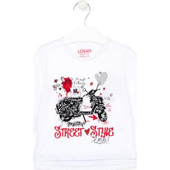 Abbigliamento Unisex bambino T-shirt & Polo Losan 026-1000AL Bianco