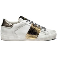 Scarpe Donna Sneakers basse Crime London LOW TOP DISTRESSED WHITE BIANCO