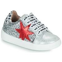 Scarpe Bambina Sneakers basse Acebo's 5461GL-PLATA-C Argento