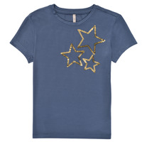 Abbigliamento Bambina T-shirt maniche corte Only KONMOULINS STAR Blu
