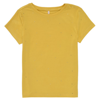 Abbigliamento Bambina T-shirt maniche corte Only KONMOULINS Giallo