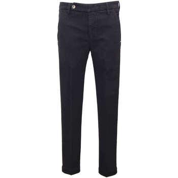 Abbigliamento Uomo Pantaloni da completo Entre Amis Pantalone micro fantasia - Blu