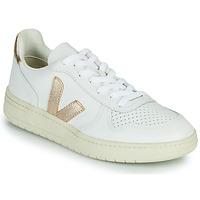 Scarpe Donna Sneakers basse Veja V-10 Bianco / Oro