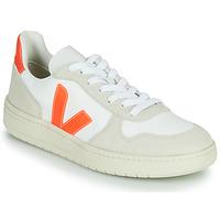Scarpe Sneakers basse Veja V-10 Bianco / Arancio