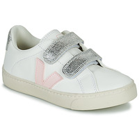 Scarpe Bambina Sneakers basse Veja SMALL ESPLAR VELCRO Bianco / Oro