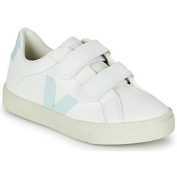 Scarpe Bambina Sneakers basse Veja SMALL ESPLAR VELCRO Bianco / Blu / Rosso