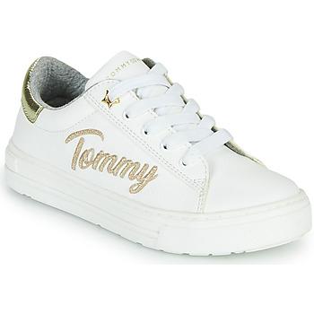 Scarpe Bambina Sneakers basse Tommy Hilfiger SOFI Bianco