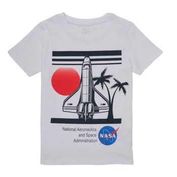 Abbigliamento Bambino T-shirt maniche corte Name it NASA Bianco