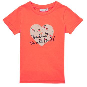 Abbigliamento Bambina T-shirt maniche corte Name it NMFDELFIN TOP Corail