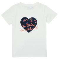 Abbigliamento Bambina T-shirt maniche corte Name it NMFDELFIN TOP Bianco