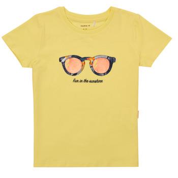 Abbigliamento Bambina T-shirt maniche corte Name it NMFFISUMMER Giallo