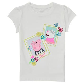Abbigliamento Bambina T-shirt maniche corte Name it PEPPAPIG Bianco