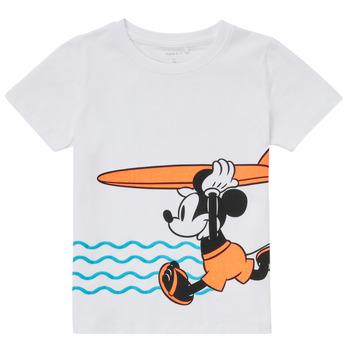 Abbigliamento Bambino T-shirt maniche corte Name it NMMMICKEY Bianco