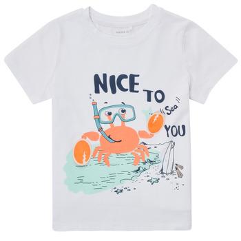 Abbigliamento Bambino T-shirt maniche corte Name it NMMFANO Bianco