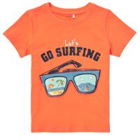 Abbigliamento Bambino T-shirt maniche corte Name it NMMFANO Arancio