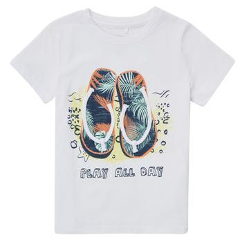 Abbigliamento Bambino T-shirt maniche corte Name it NMMFASHO Bianco