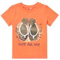 Abbigliamento Bambino T-shirt maniche corte Name it NMMFASHO Arancio