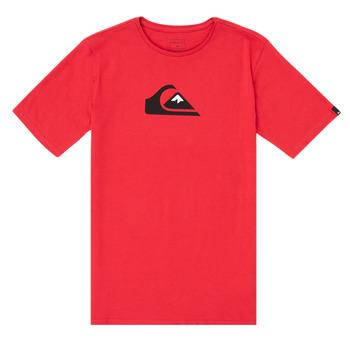 Abbigliamento Bambino T-shirt maniche corte Quiksilver COMP LOGO Rosso