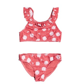 Abbigliamento Bambina Costume a due pezzi Roxy TEENY EVERGLOW CROP TOP SET Rosa