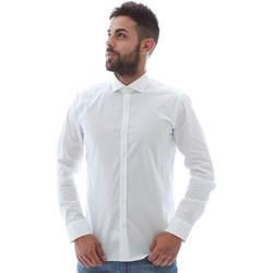 Abbigliamento Uomo Camicie maniche lunghe Gmf GMF5 4864 8 Bianco