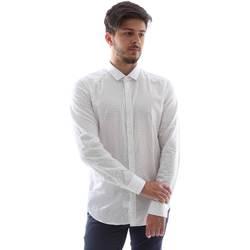 Abbigliamento Uomo Camicie maniche lunghe Gmf FS15 961138/1 Bianco
