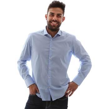 Abbigliamento Uomo Camicie maniche lunghe Gmf 961146/1 Blu
