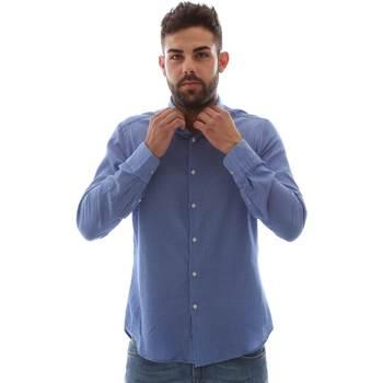 Abbigliamento Uomo Camicie maniche lunghe Gmf 961414/5 Blu