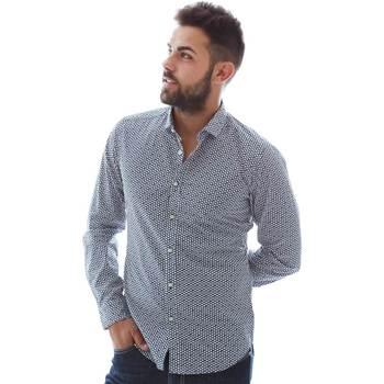 Abbigliamento Uomo Camicie maniche lunghe Gmf 961151/3 Blu