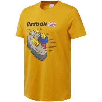 Abbigliamento Uomo T-shirt maniche corte Reebok Sport DT8125 Giallo