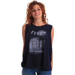 Abbigliamento Donna Top / T-shirt senza maniche Key Up 5Z14S 0001 Blu