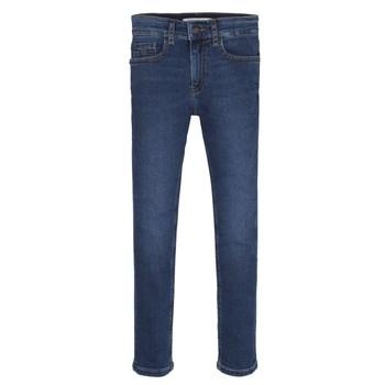 Abbigliamento Bambino Jeans skynny Calvin Klein Jeans ESSENTIAL ROYAL BLUE STRETCH Blu