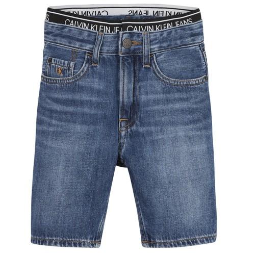 Abbigliamento Bambino Shorts / Bermuda Calvin Klein Jeans AUTHENTIC LIGHT WEIGHT Blu