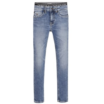 Abbigliamento Bambino Jeans skynny Calvin Klein Jeans SKINNY VINTAGE LIGHT BLUE Blu