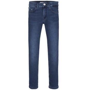 Abbigliamento Bambina Jeans skynny Calvin Klein Jeans SKINNY ESS ROYAL BLUE Blu