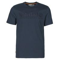 Abbigliamento Uomo T-shirt maniche corte Timberland SS OUTDOOR HERITAGE LINEAR LOGO TEE REGULAR Marine