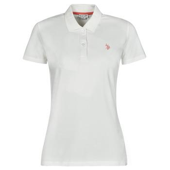 Abbigliamento Donna Polo maniche corte U.S Polo Assn. LOGO POLO SS Bianco