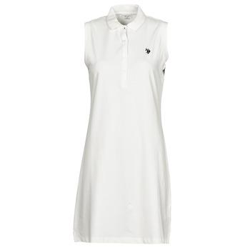 Abbigliamento Donna Abiti corti U.S Polo Assn. AMY DRESS POLO SLEEVELESS Bianco