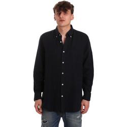 Abbigliamento Uomo Camicie maniche lunghe Navigare NV91108 Blu