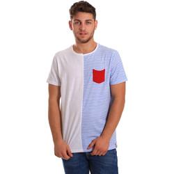 Abbigliamento Uomo T-shirt maniche corte Gaudi 811FU64046 Bianco