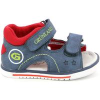 Scarpe Unisex bambino Sandali Grunland PS0017 Blu