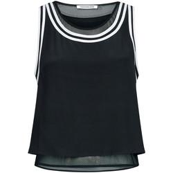 Abbigliamento Donna Top / T-shirt senza maniche Calvin Klein Jeans TANK WITH MESH LININ, BAE Nero