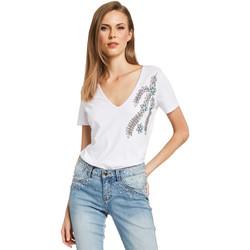 Abbigliamento Donna T-shirt maniche corte Gaudi 011BD64017 Bianco