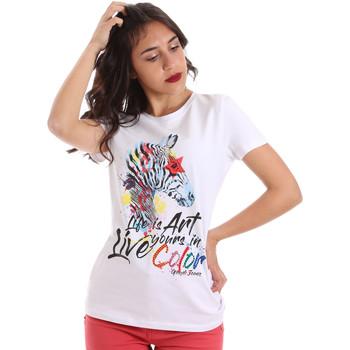 Abbigliamento Donna T-shirt maniche corte Gaudi 011BD64003 Bianco