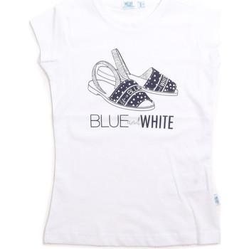 Abbigliamento Unisex bambino Top / T-shirt senza maniche Melby 70E5645 Bianco