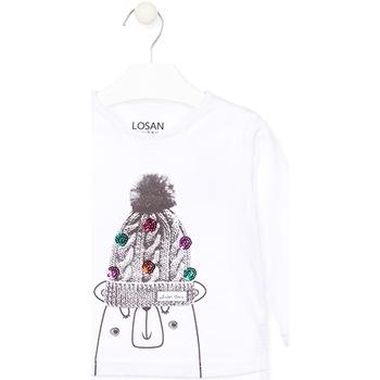 Abbigliamento Unisex bambino T-shirts a maniche lunghe Losan 026-1007AL Bianco